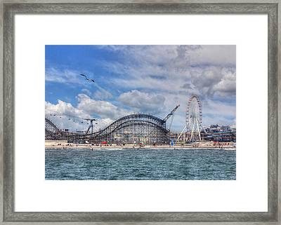 The Jersey Shore Framed Print by Lori Deiter
