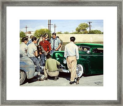 The Jesse Lopez '41 Ford Framed Print by Ruben Duran