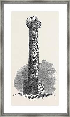 The Jessop Monument Codnor Park Derbyshire Struck Framed Print