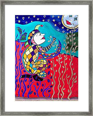 The Jester And The Moon Framed Print