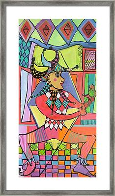 The Jester Framed Print by Janet Ashworth