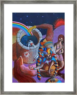 The Jester King Framed Print