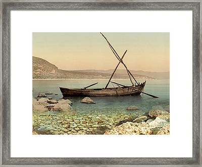 The Jesus Boat At The Sea Of Galilee  Framed Print