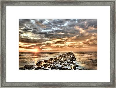 The Jetties At Ponce Inlet Framed Print