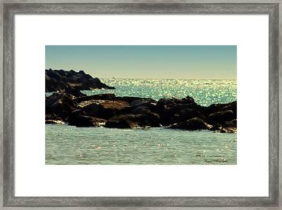 The Jetties Framed Print by Debra Forand