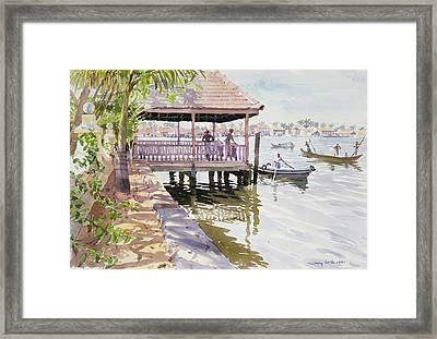 The Jetty Cochin Framed Print by Lucy Willis