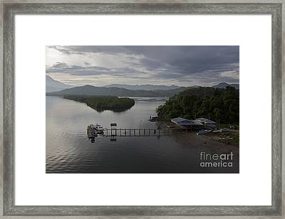 Framed Print featuring the photograph The Jetty  by Gary Bridger