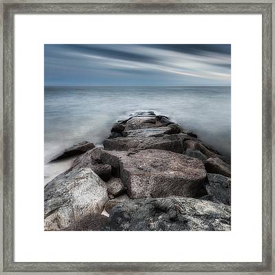 The Jetty Square Framed Print by Bill Wakeley