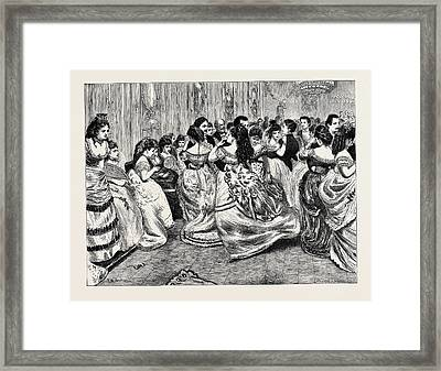 The Jews Infant School Ball At Williss Rooms Framed Print