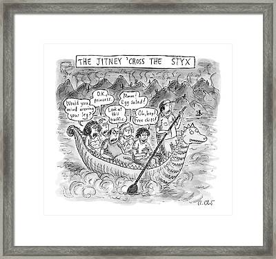 The Jitney 'cross The River Styx A Group Framed Print
