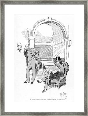 The Jockey Club, Newmarket A Cosy Corner Framed Print by Mary Evans Picture Library