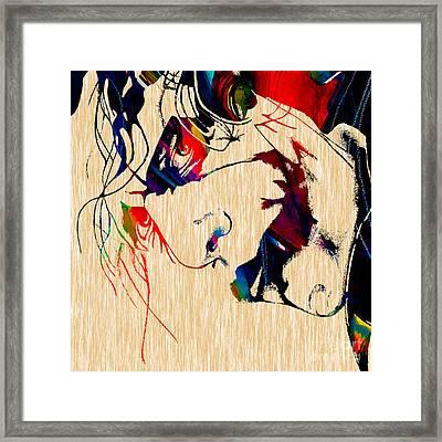 The Joker Heath Ledger Collection Framed Print