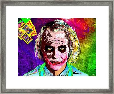 The Joker - Heath Ledger Framed Print by Daniel Janda