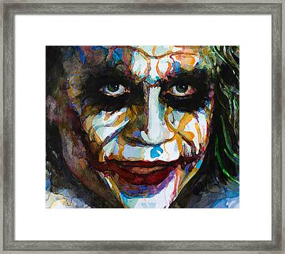 The Joker - Ledger Framed Print