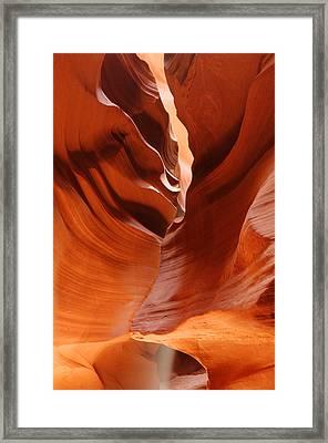The Joker - Antelope Canyon Navajo Tribal Park - Page Arizona Framed Print by Silvio Ligutti