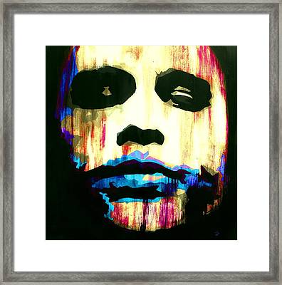 The Joker Why So Serious Framed Print