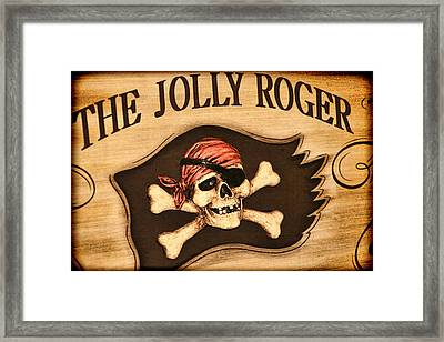 The Jolly Roger Framed Print by Kathy Clark