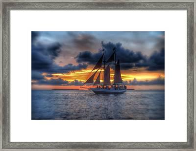 The Jolly Roger Sunset Framed Print