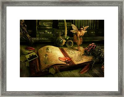 The Journal Framed Print by Cassiopeia Art