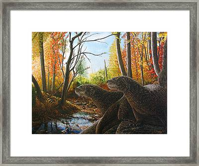 The Journey Framed Print by Cara Bevan