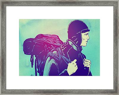 The Journey Framed Print by Giuseppe Cristiano