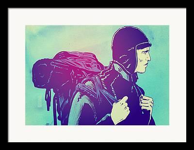 Journey Drawings Framed Prints