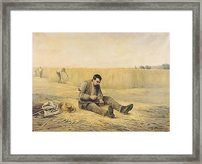 The Journeyman Oil On Canvas Framed Print