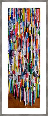 The Joy Of Crayons Framed Print by Marwan George Khoury