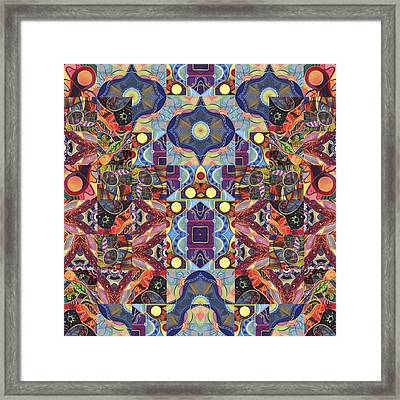 The Joy Of Design Mandala Series Puzzle 1 Arrangement 7 Framed Print by Helena Tiainen
