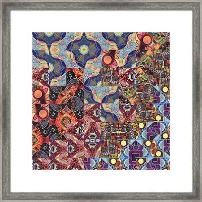 The Joy Of Design Mandala Series Puzzle 1 Arrangement 8 Framed Print by Helena Tiainen