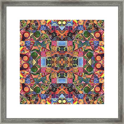 The Joy Of Design Mandala Series Puzzle 2 Arrangement 2 Framed Print by Helena Tiainen