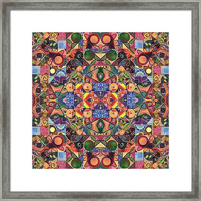 The Joy Of Design Mandala Series Puzzle 2 Arrangement 3 Framed Print by Helena Tiainen