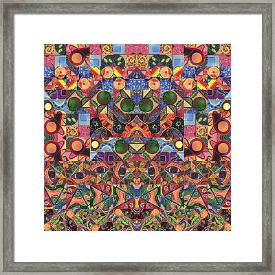 The Joy Of Design Mandala Series Puzzle 2 Arrangement 6 Framed Print by Helena Tiainen