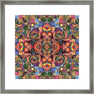 The Joy Of Design Mandala Series Puzzle 2 Arrangement 7 Framed Print by Helena Tiainen