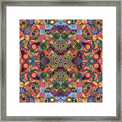 The Joy Of Design Mandala Series Puzzle 2 Arrangement 8 Framed Print by Helena Tiainen