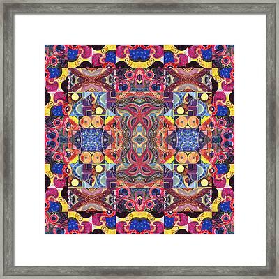 The Joy Of Design Mandala Series Puzzle 3 Arrangement 1 Framed Print by Helena Tiainen