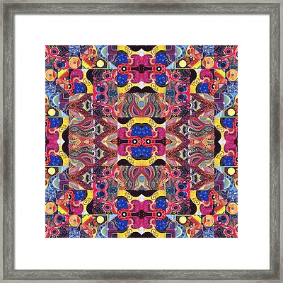 The Joy Of Design Mandala Series Puzzle 3 Arrangement 2 Framed Print by Helena Tiainen