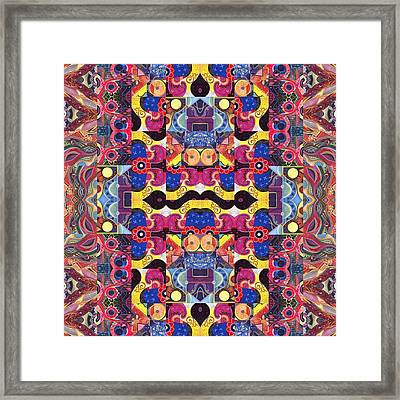 The Joy Of Design Mandala Series Puzzle 3 Arrangement 4 Framed Print by Helena Tiainen
