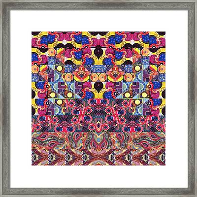 The Joy Of Design Mandala Series Puzzle 3 Arrangement 5 Framed Print by Helena Tiainen