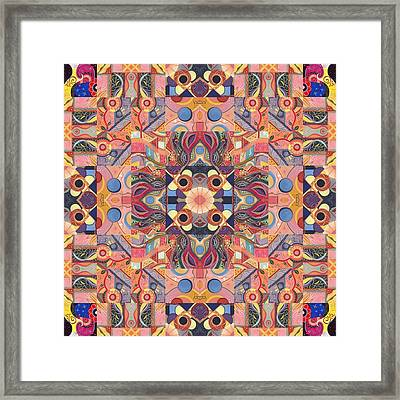 The Joy Of Design Mandala Series Puzzle 4 Arrangement 1 Framed Print by Helena Tiainen