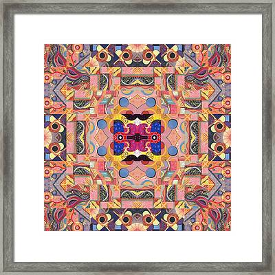 The Joy Of Design Mandala Series Puzzle 4 Arrangement 2 Framed Print by Helena Tiainen