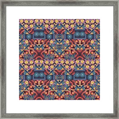 The Joy Of Design Mandala Series Puzzle 5-4 Arrangement Framed Print
