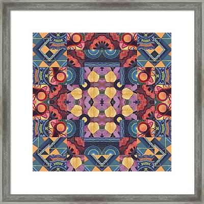 The Joy Of Design Mandala Series Puzzle 5 Arrangement 2 Framed Print by Helena Tiainen