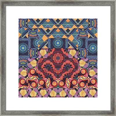 The Joy Of Design Mandala Series Puzzle 5 Arrangement 3 Framed Print by Helena Tiainen
