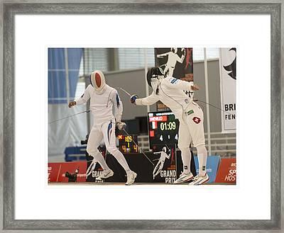 The Joy Of Fencing Framed Print
