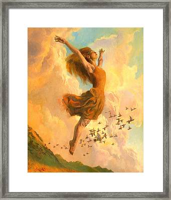 The Joy Of Life Small Framed Print by Francois Girard