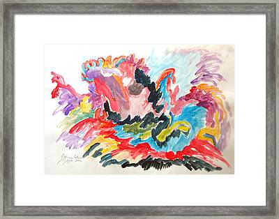 Framed Print featuring the painting The Joy Of Recovery by Esther Newman-Cohen