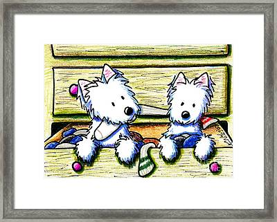The Joy Of Socks Framed Print by Kim Niles