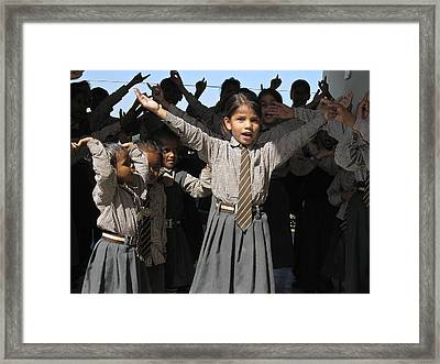 The Joy Of Song Framed Print by Russell Smidt