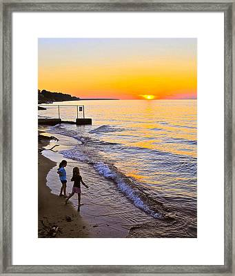 The Joy Of Youth Framed Print by Frozen in Time Fine Art Photography